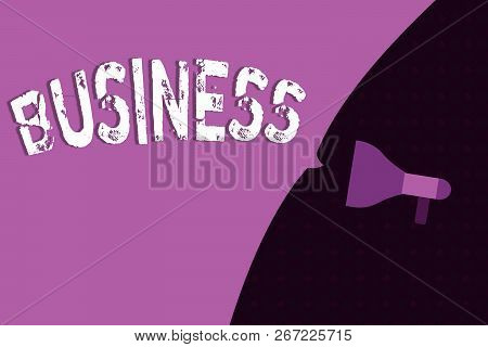 Conceptual Hand Writing Showing Business. Business Photo Showcasing Occupation Profession Commercial