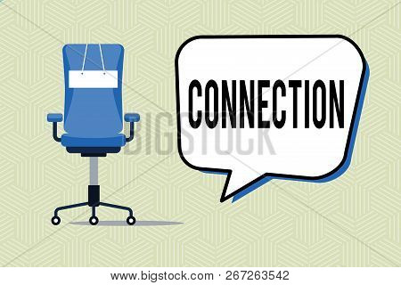 Writing Note Showing Connection. Business Photo Showcasing Relation Association Causal Logical Relat
