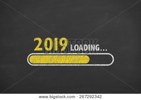 Loading New Year 2019 On Blackboard Business Concepts