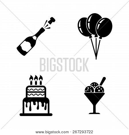 Events, Celebration, Holiday. Simple Related Vector Icons Set For Video, Mobile Apps, Web Sites, Pri