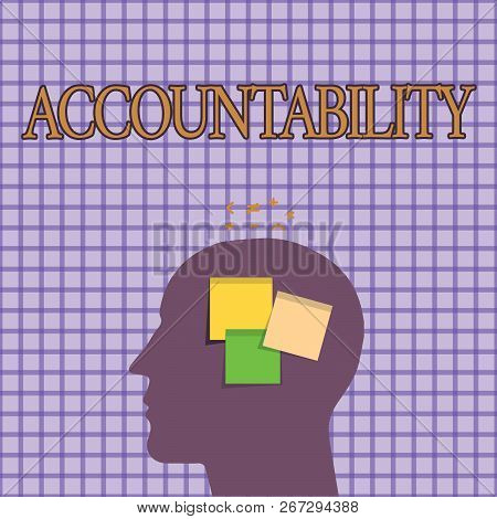 Conceptual Hand Writing Showing Accountability. Business Photo Showcasing State Of Being Responsible