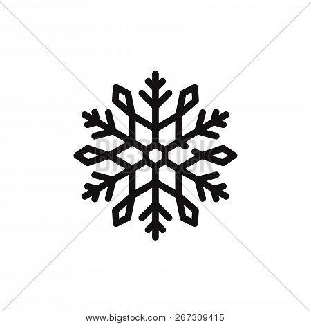 Snowflake Icon Isolated On White Background. Snowflake Icon In Trendy Design Style. Snowflake Vector
