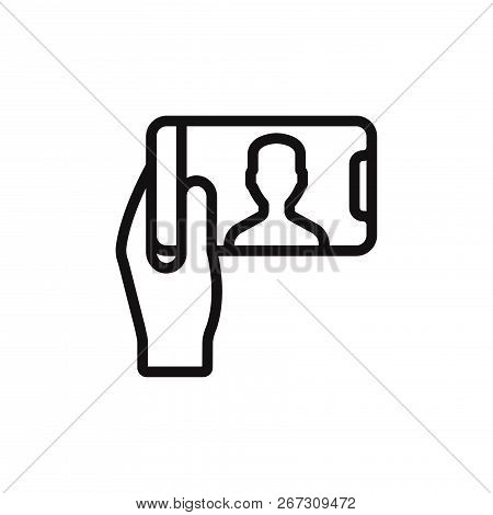 Selfie Icon Isolated On White Background. Selfie Icon In Trendy Design Style. Selfie Vector Icon Mod