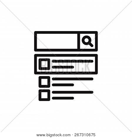 Search On Web Icon Isolated On White Background. Search On Web Icon In Trendy Design Style. Search O