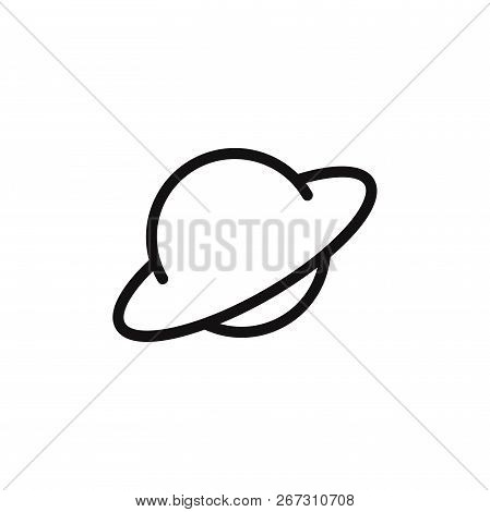 Saturn Icon Isolated On White Background. Saturn Icon In Trendy Design Style. Saturn Vector Icon Mod