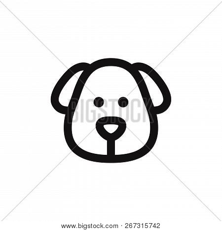 Dog Head Icon Isolated On White Background. Dog Head Icon In Trendy Design Style. Dog Head Vector Ic