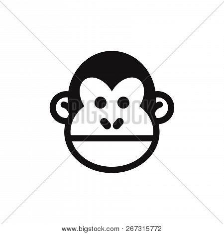 Monkey Head Icon Isolated On White Background. Monkey Head Icon In Trendy Design Style. Monkey Head