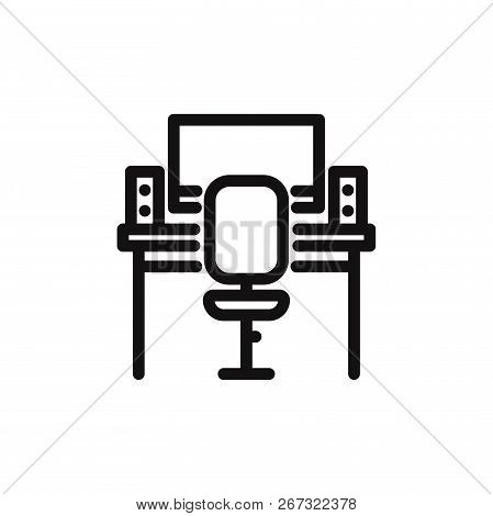 Workplace Icon Isolated On White Background. Workplace Icon In Trendy Design Style. Workplace Vector