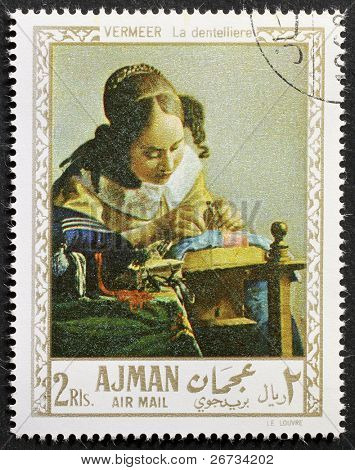 AJMAN (EMIRATE) - CIRCA 1968: a stamp printed in Ajman (UAE) shows the picture