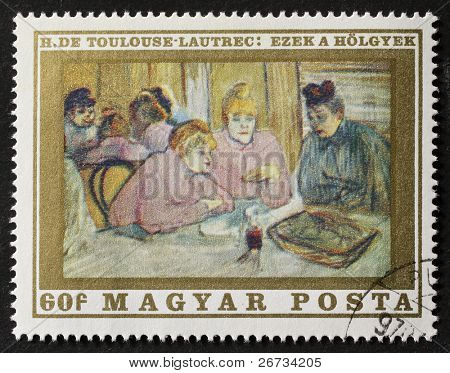 HUNGARY - CIRCA 1970: a stamp printed in Hungary shows the picture