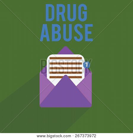 Conceptual Hand Writing Showing Drug Abuse. Business Photo Text Compulsive Drug Seeking The Habitual