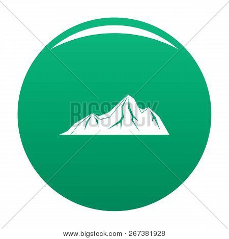 Tall Mountain Icon. Simple Illustration Of Tall Mountain Icon For Any Design Green