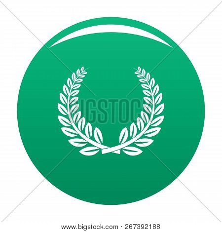 Trophy Icon. Simple Illustration Of Trophy Icon For Any Design Green