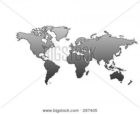 World Map (metallic)