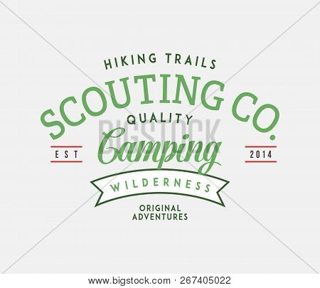 Outdoor Hiking Trails Scouts Is A Vector Illustration About Wilderness Exploration
