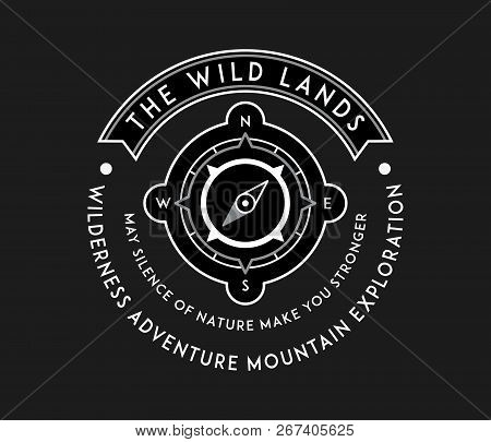 Outdoor Native Wild Lands White On Black Is A Vector Illustration About Wilderness Exploration
