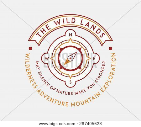 Outdoor Native Wild Lands Is A Vector Illustration About Wilderness Exploration