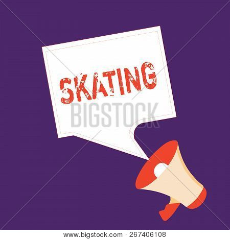 Word Writing Text Skating. Business Concept For Action Of Skate Fun Sport Skaters Activity Exercise
