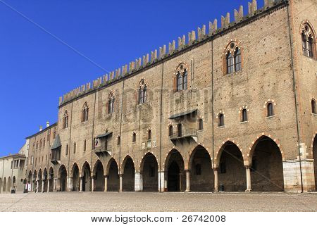 Ducal palace in Mantua, Italy. poster