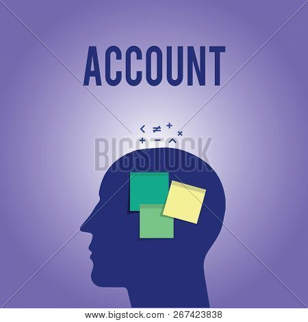 Word Writing Text Account. Business Concept For Record Statement Financial Movements Relating To Par