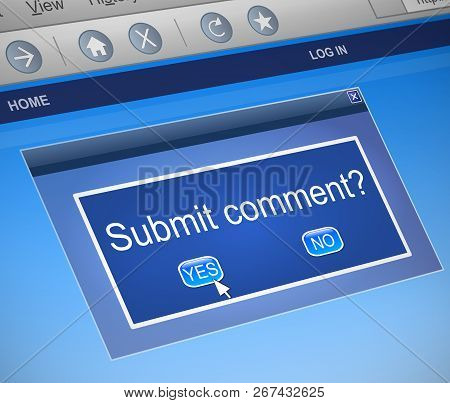 Submit Comment Concept.