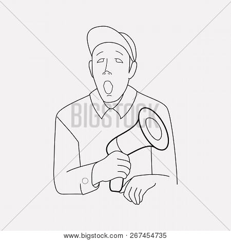 Director Icon Line Element. Vector Illustration Of Director Icon Line Isolated On Clean Background F