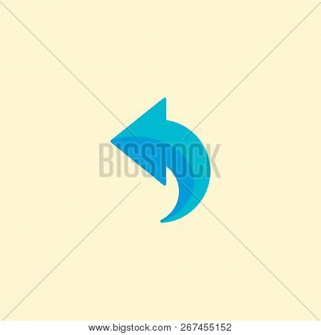 Undo icon flat element. Vector illustration of undo icon flat isolated on clean background for your web mobile app logo design. poster