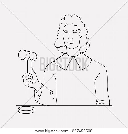 Judge Icon Line Element.  Illustration Of Judge Icon Line Isolated On Clean Background For Your Web