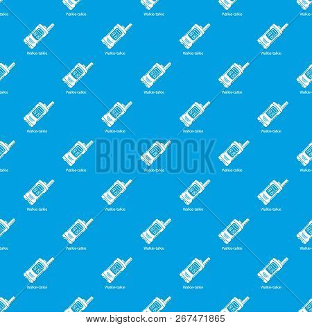 Portable Radio Pattern Vector Seamless Blue Repeat For Any Use