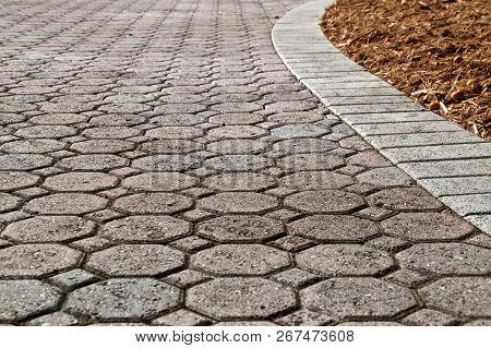 Low Angle Brick Paver Driveway