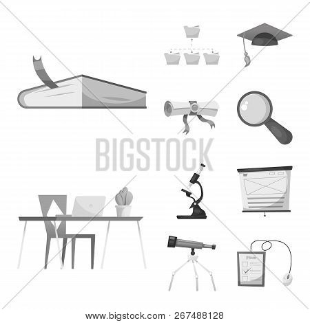 Vector Design Of Education And Learning Logo. Collection Of Education And School Stock Symbol For We