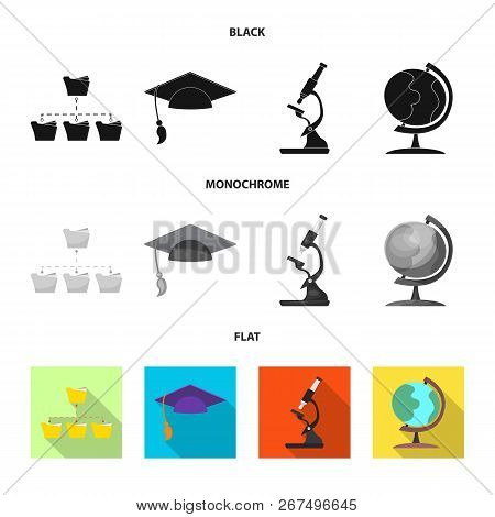 Vector Design Of Education And Learning Icon. Set Of Education And School Vector Icon For Stock.