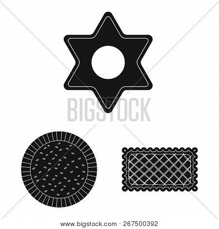 Vector Illustration Of Biscuit And Bake Logo. Collection Of Biscuit And Chocolate Vector Icon For St