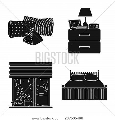 Vector Illustration Of Dreams And Night Logo. Collection Of Dreams And Bedroom Stock Symbol For Web.