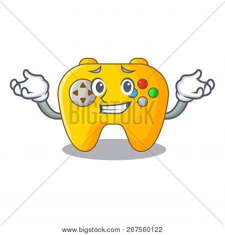 Grinning Video Game Controller Shaped On Charcter