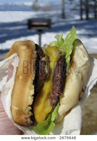 Tahoe Winter Beach Burger