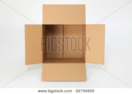 top view of open  empty box