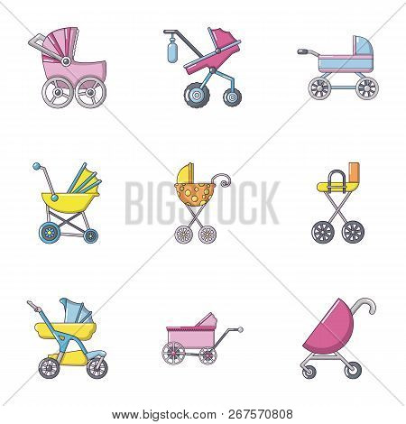 Sidecar Icons Set. Flat Set Of 9 Sidecar Vector Icons For Web Isolated On White Background