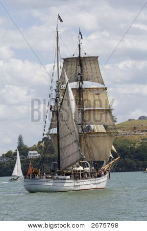 Tall Ship - A  Brigantine Stern On