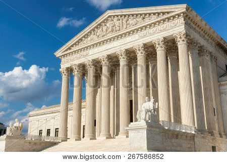 United States Supreme Court Building In Washington Dc, Usa.