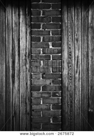 Bricks On Wood