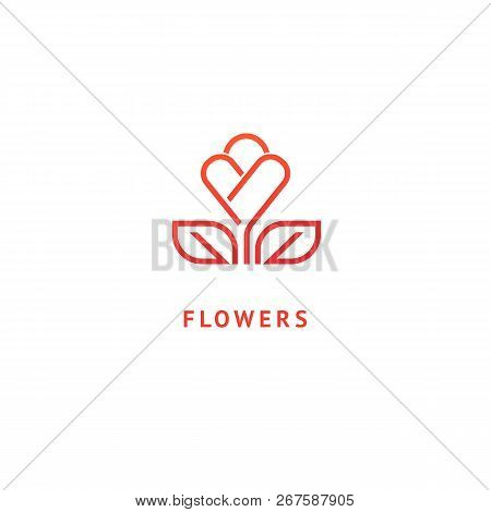Vector Luxury Flower Logo Design. Ornate Floral Wedding Sign. Modern Simple Premium Design Vector El