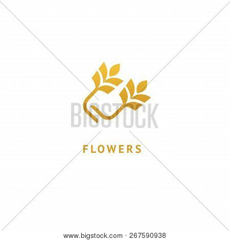 Vector Stock Logo, Abstract Nature Sign. Illustration Design Of Elegant, Premium And Royal Logotype
