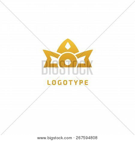 Vector Stock Logo, Abstract Crown Vector Template. Illustration Design Of Elegant, Premium And Royal