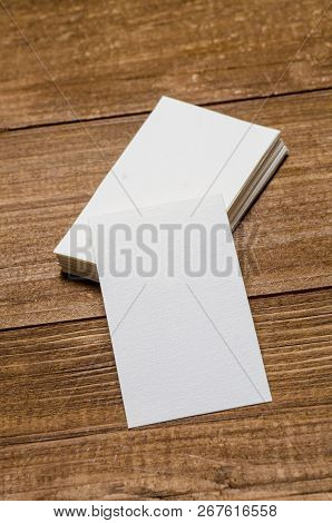 White Blank Business Card