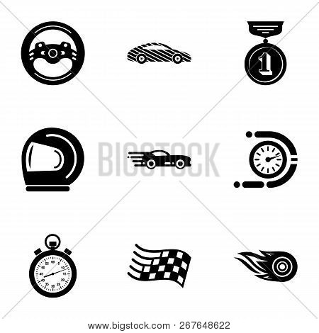 Ride Journey Icons Set. Simple Set Of 9 Ride Journey Vector Icons For Web Isolated On White Backgrou