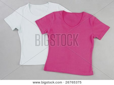 Set of women's blank tee-shirts ready to add your designs