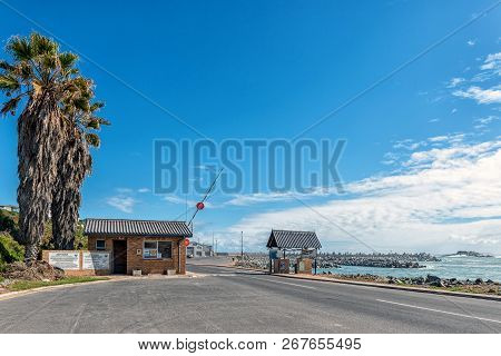 Yzerfontein, South Africa, August 20, 2018: Entrance To The Harbor In Yzerfontein On The Atlantic Oc