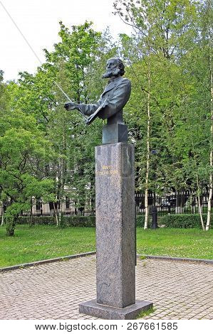 Kronstadt, Russia - 10 July 2016: Monument To Ivan Aivazovsky (1817 - 1900), Russian Romantic Painte