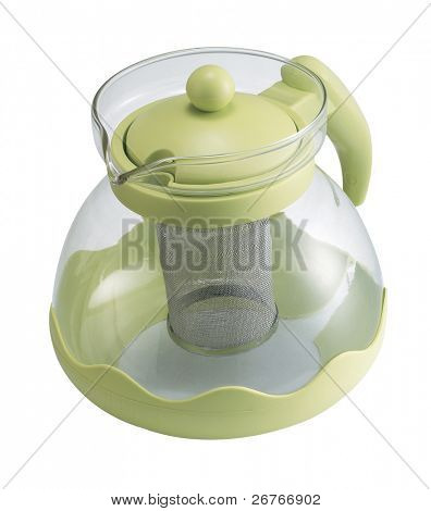 clipping path of the tea pot